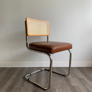 Vintage Cantilever Cane Back Chair
