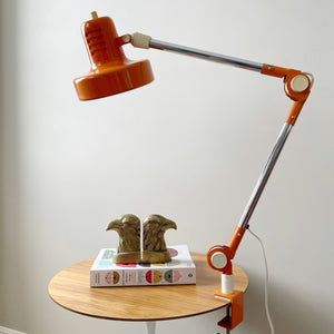 Vintage Articulated Clamp Desk Lamp