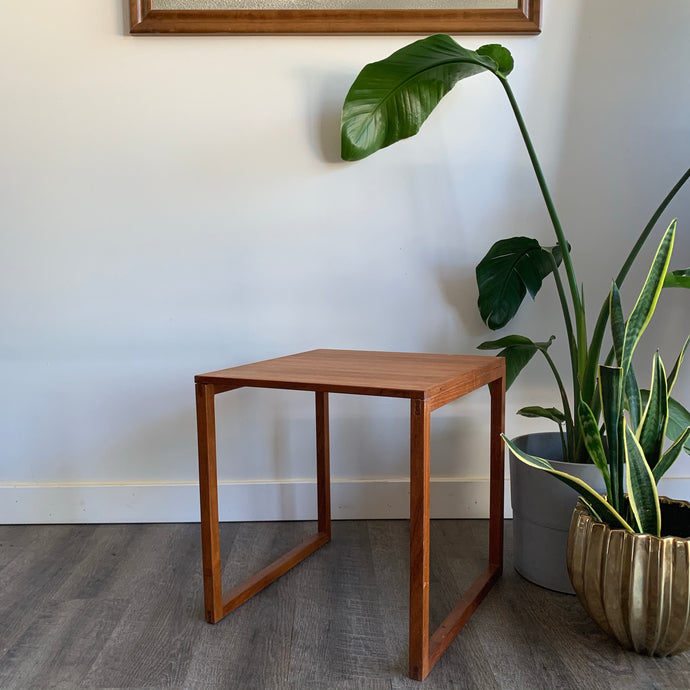 Vintage Danish Teak Side Table/Plant Stand
