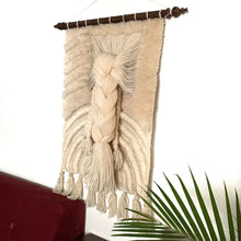 Load image into Gallery viewer, Vintage Wool Macrame Wall Decor