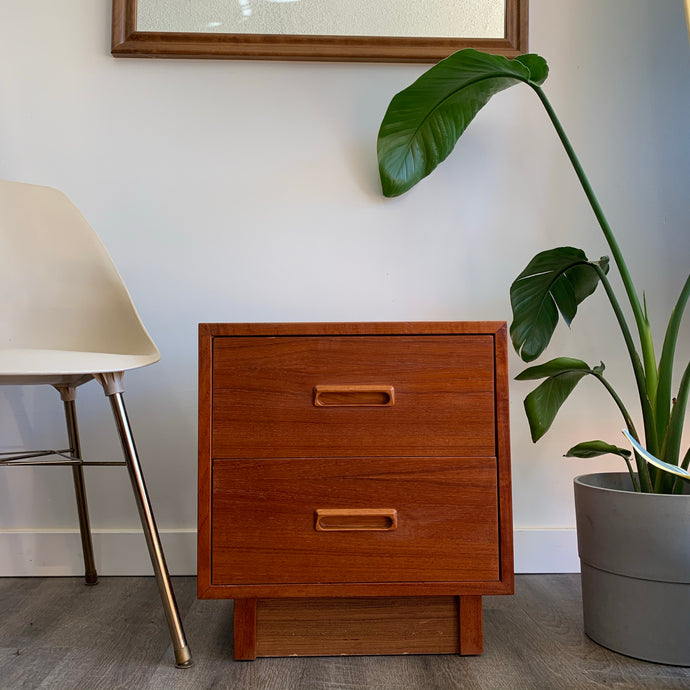 Vintage Teak Nightstand Table