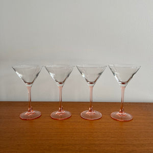 Set of 4 Vintage French Martini Glasses