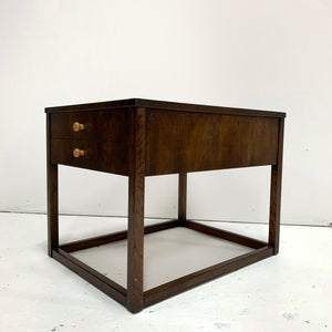 Vintage Burled Wood Side Table