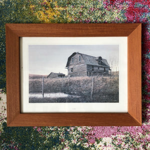 The Vanishing Buildings of Rural Canada Teak Frame Prints