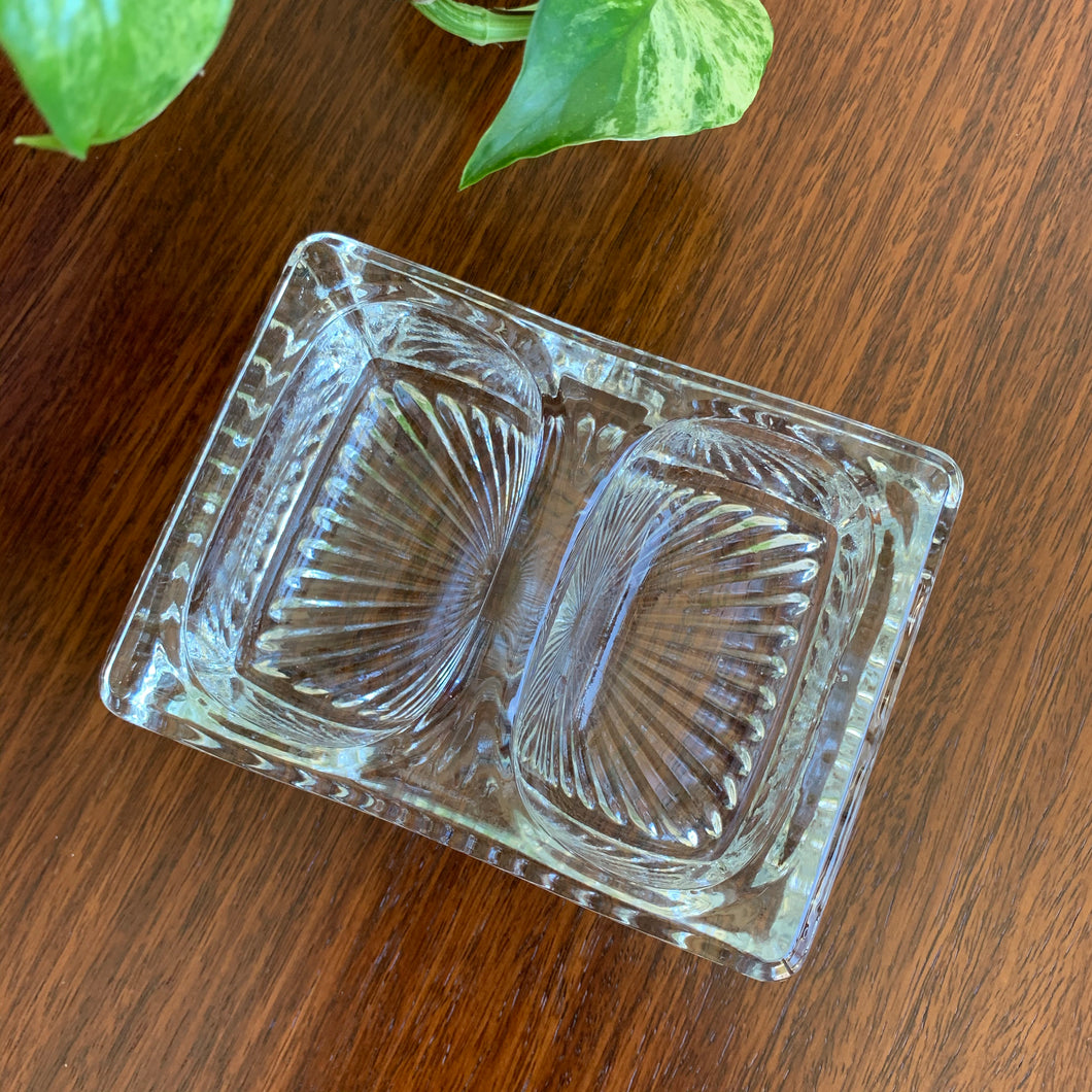 Vintage Glass Trinket Dish