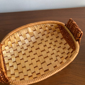 Pair of Woven Wicker Rooster Baskets