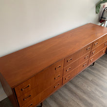 Load image into Gallery viewer, Vintage Teak 9 Drawer Dresser by Punch Design