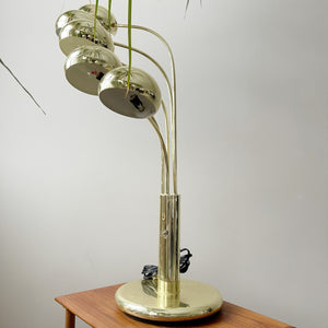 Vintage Brass Spider Table Lamp