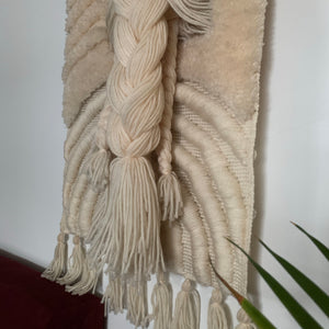 Vintage Wool Macrame Wall Decor