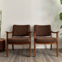 Load image into Gallery viewer, Vintage Mid Century Modern Walnut Armchairs by Krug Furniture