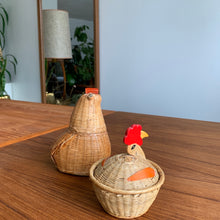 Load image into Gallery viewer, Pair of Vintage Woven Wicker Rooster Baskets