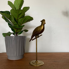 Load image into Gallery viewer, Vintage Brass Bird Figurine