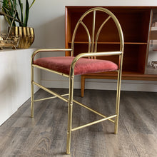 Load image into Gallery viewer, Vintage Brass Vanity Stool