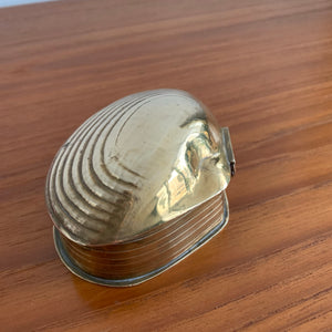 Vintage Solid Brass Shell Trinket Box