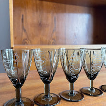 Load image into Gallery viewer, Set of 5 Vintage Port Wine Glasses