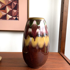 West Germany Drip Glazed Pottery