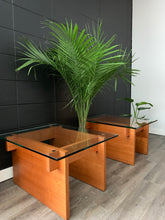 Load image into Gallery viewer, Pair of Danish Teak Side Tables with Glass Tops by Sigurd Hansen Mobelfabrik