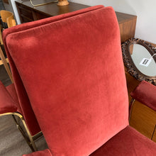 Load image into Gallery viewer, Vintage Brass Armchairs with Velvet Upholstery