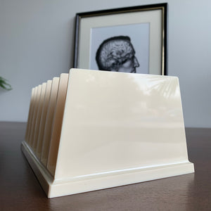 Vintage Desktop File Organizer in Cream by Rogers