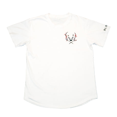 'BLOOM' Tee [Curved Fit] (White)