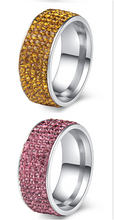 Load image into Gallery viewer, Crystal Stainless Steel Ring