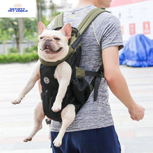 Load image into Gallery viewer, Pet dog puppy cat carrying travel shoulder backpack carrier front bag holder