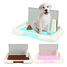 Load image into Gallery viewer, Portable Double Layer Flat Pet Dog Grid Toilet with Wall Splash Proof