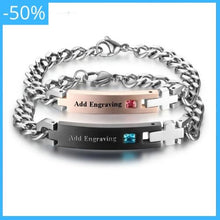 Load image into Gallery viewer, Personalized Engrave Name Lover´s Bracelet for Couples