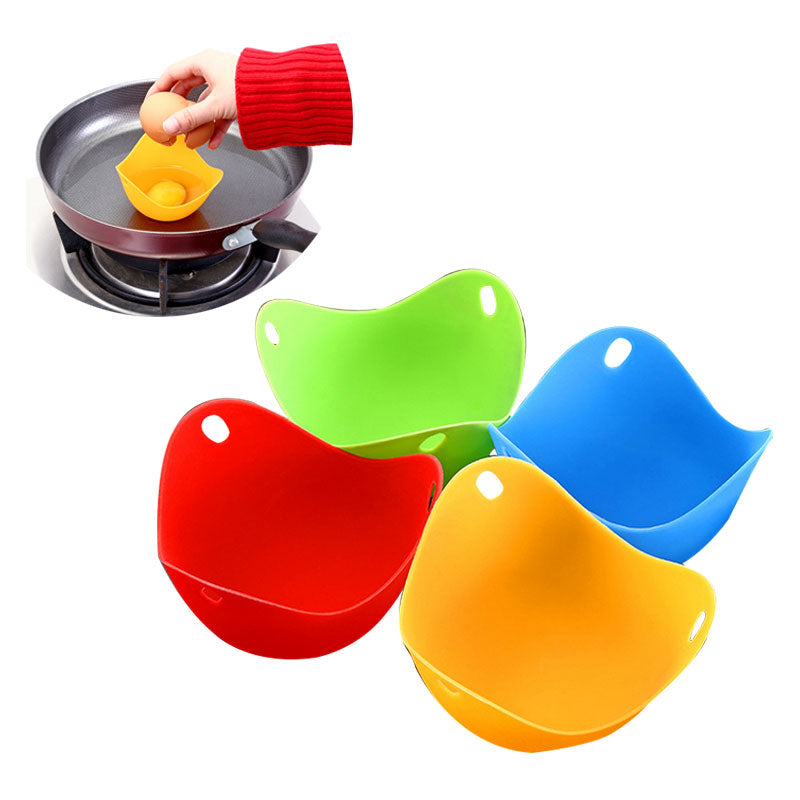 4 Pcs Silicone Egg Poacher Mold Cups
