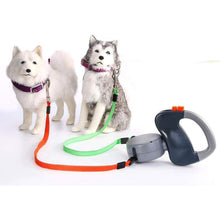 Load image into Gallery viewer, retractable dual collar dog leash