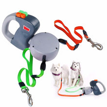 Load image into Gallery viewer, Retractable Dual Doggy Pet Leash