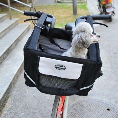 Pet Bicycle Transport Basket Carrier Carrying Bag