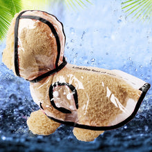 Load image into Gallery viewer, Transparent Adjustable Waterproof Hooded Raincoat Pet Jacket for Rain with Windproof Design