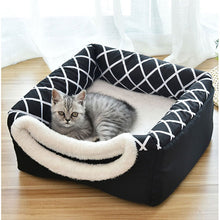 Load image into Gallery viewer, Soft Pet Kennel Bed Cave House Sleeping Bag Mat for Cats and small Dogs