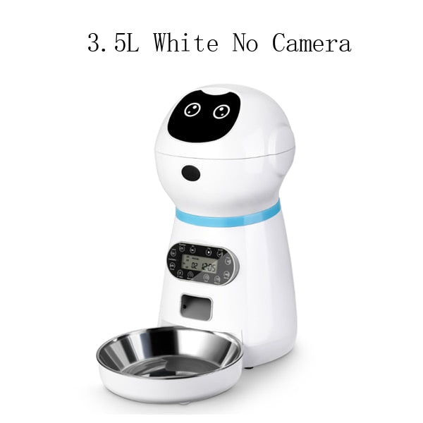 Smart Timing Automatic Slow Pet Food Dispenser Feeder With Voice Recording & LCD Screen