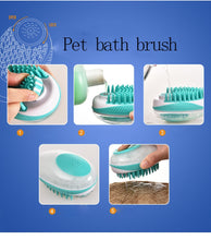 Load image into Gallery viewer, Pet Dog Cat bath massage brush shower Shampoo Cleaning and Grooming Comb