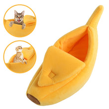 Load image into Gallery viewer, Cozy Cute  Banana Puppy Pet Cat Cushion Warm Portable Bed