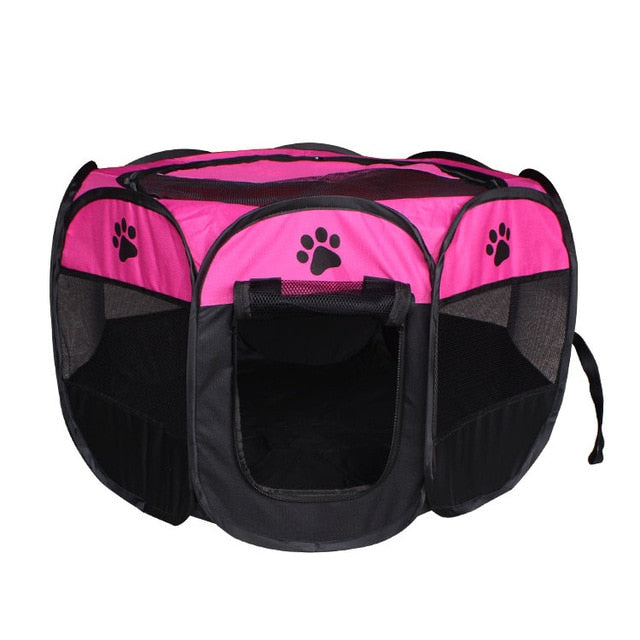 Portable Foldable Octagon Dog Pet Tent PlayPen Fence House