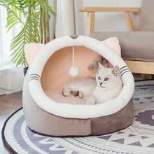 Load image into Gallery viewer, Warm Soft Cat Bed Cave House