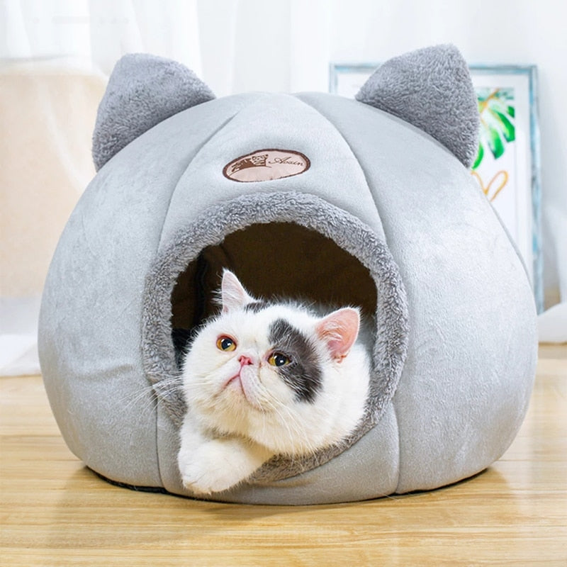 Foldable, Removable & Comfortable Warm Bed for Cats Pet Puppy & Little Dogs Indoor Tent