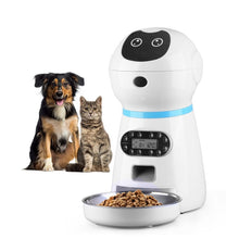 Load image into Gallery viewer, Smart Timing Automatic Slow Pet Food Dispenser Feeder With Voice Recording & LCD Screen