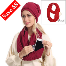 Load image into Gallery viewer, Unisex Scarf Zipper Pocket