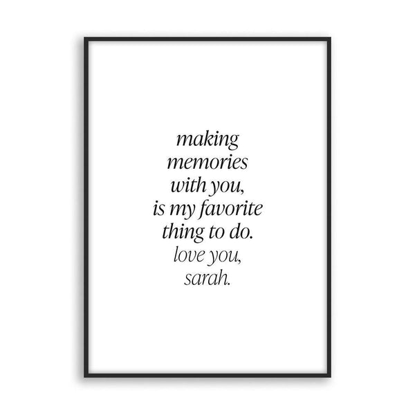 Making memories with you - Poster - Cosico