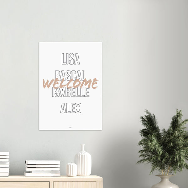 Familien Welcome - Poster - Cosico