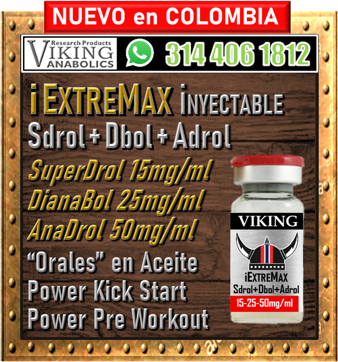 Proximanente...  iEXTREMAX Inyectable, SuperDrol 15mg/ml, Dianabol 25mg/ml y Anadrol 50mg/ml en base de aceite, 10ml. Precio de Introducción.