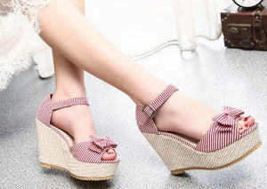 .Red Striped Wedge