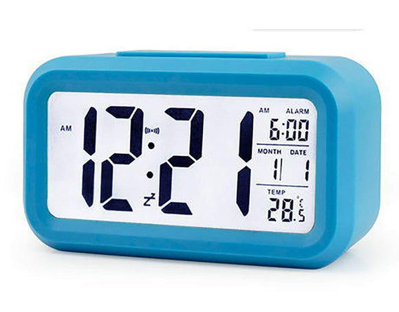 Multi-function Digital Alarm Clock With Night Light, Time Temperature Date Display