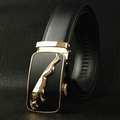 GOLD EMBOSSED JAGUAR BELT