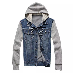 Detachable Hooded Jeans Jacket
