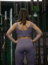 Load image into Gallery viewer, Motus Seamless Y Sports Bra - Dark Purple
